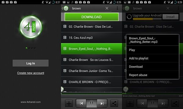 los-mejores-programas-para-descargar-musica-gratis-mp3-en-android-4Shared-music