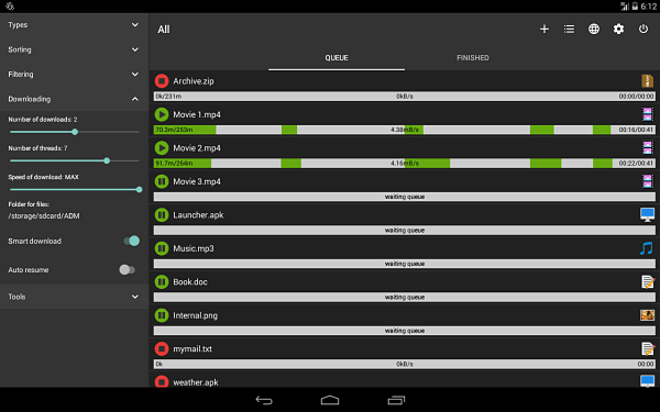 mejores-programas-para-descargar-musica-gratis-mp3-en-android-ADVANCED-DOWNLOAD-MANAGER