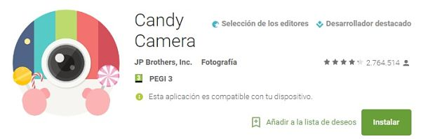 aplicaciones-editar-fotos-arreglar-decorar-candy-camera