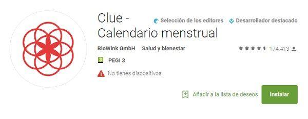 descargar clue calendario menstrual para pc