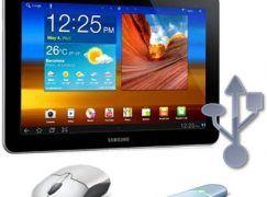 Como conectar gadgets USB al Galaxy TAB 10.1