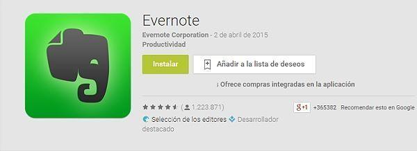 las-100-mejores-aplicaciones-android-2015-evernote