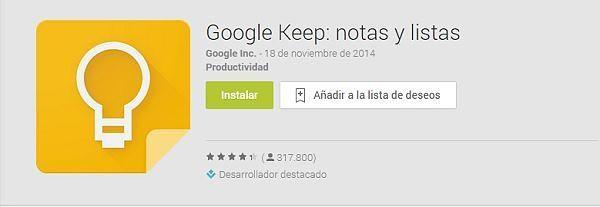 las-100-mejores-aplicaciones-android-2015-google-keep