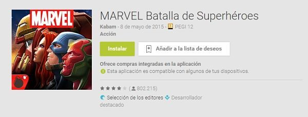 100-mejores-juegos-android-2015-Marvel-Batalla-de-Superhéroes