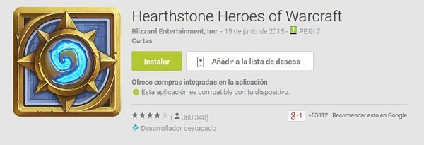 Los-100-mejores-juegos-android-2015-Hearthstone-Heroes-of-Warcraft