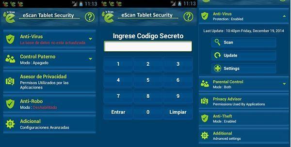 mejores-antivirus-para-android-gratis-eScan-tableta-seguridad